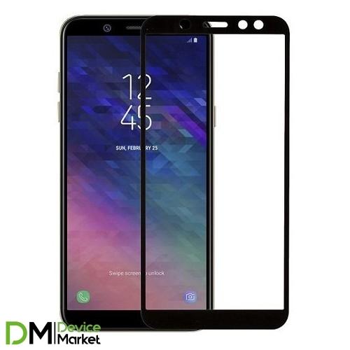 Защитное стекло Samsung A6 2018 A600 Black